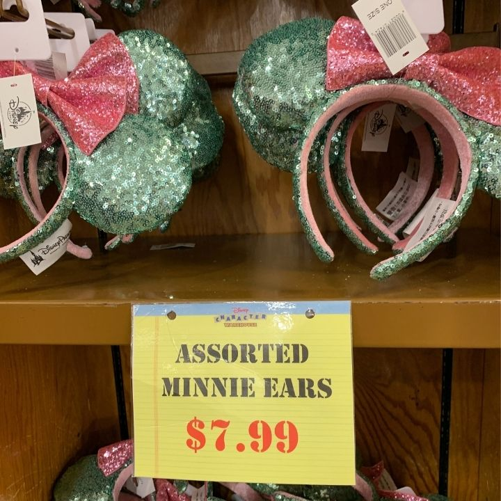 Minnie Ears at the Disney Character Warehouse