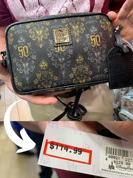 Huge discount on a Dooney & Burke handbag at Disney Character Warehouse
