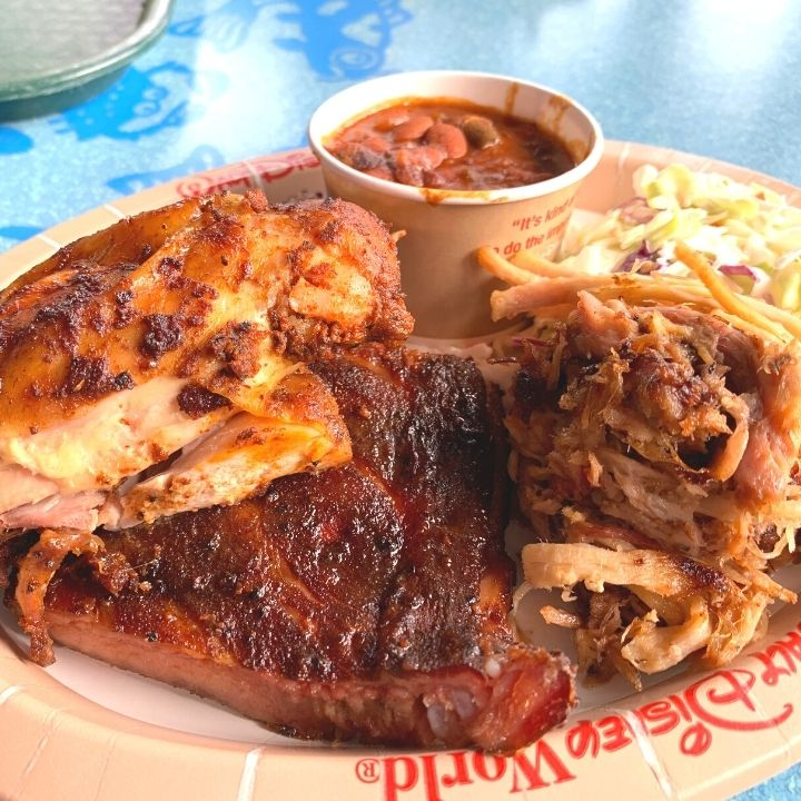 Combo Meal from Flame Tree Barbecue