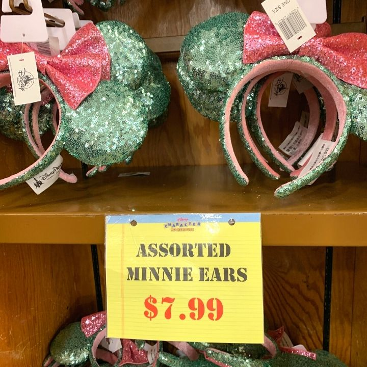 Minnie Ears at Disney Character Warehouse