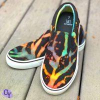 bleach tie dye shoes