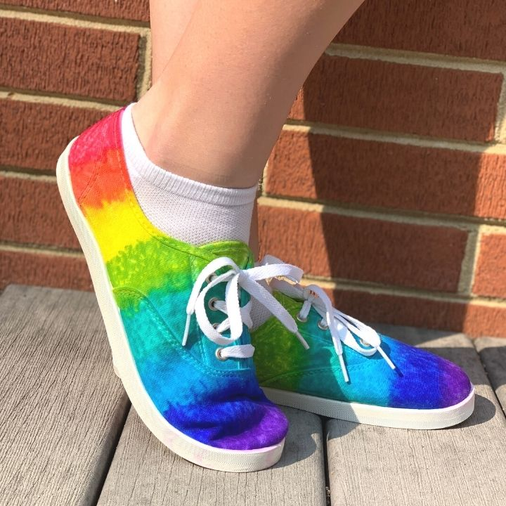 finished tie dye shoes image 2