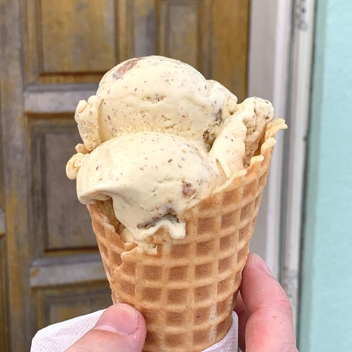 Butter pecan ice cream from Celtic Creamery