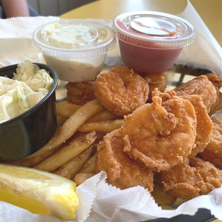 Calabash Shrimp at Ocean Grill and Tiki Bar in Carolina Beach