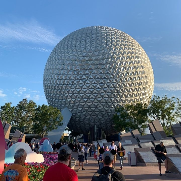 Spaceship Earth at Epcot in Disney World
