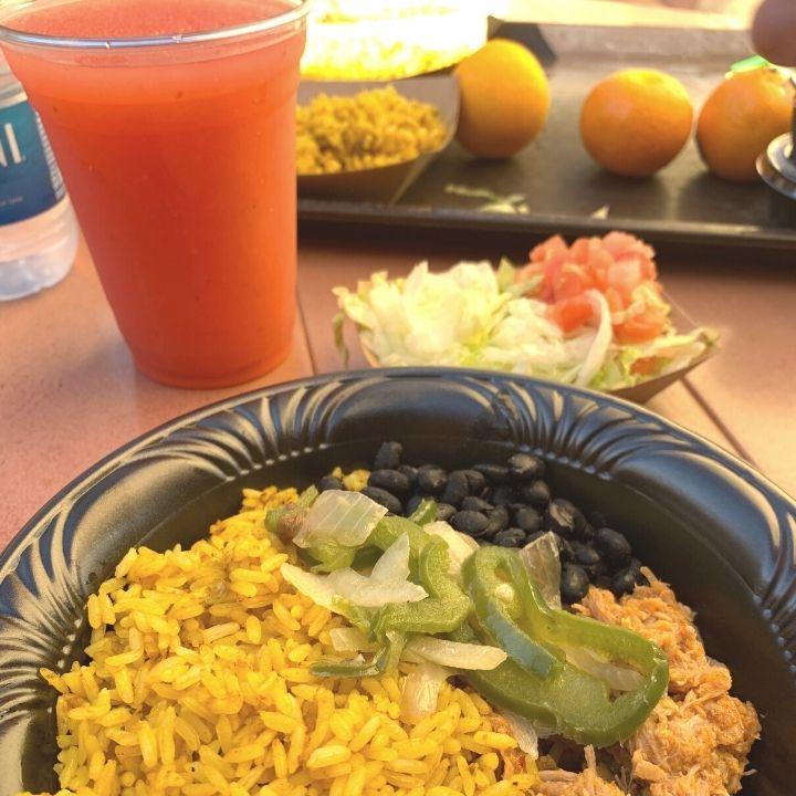Food from Pecos Bill's Tell Tale Inn at Magic Kingdom