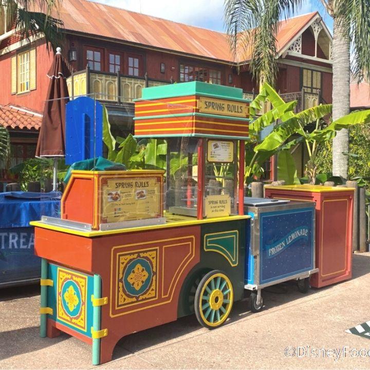 The Adventureland Spring Roll Cart in the Magic Kingdom